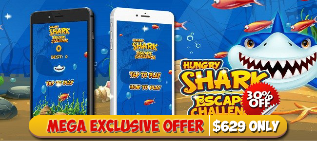 Hungry Shark Escape Challenge Game Source Code - Reskin
