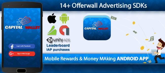 Capital Wallet Android Money Making App Source Code