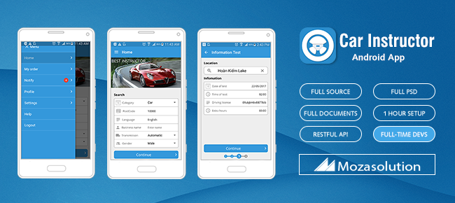 buy car instructor android app template appngamereskin