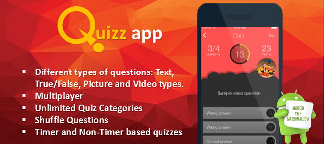 Android quiz app source code android studio | Android Quiz