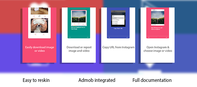 Instagram Photo Video Download & Repost App Source Code - Reskin
